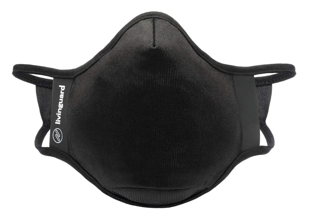 Fitness face mask with antiviral effect from Livinguard